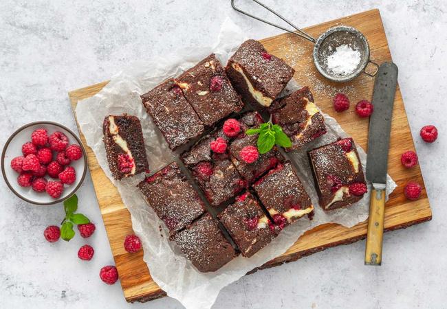 Himbeer-Käsekuchen Brownies